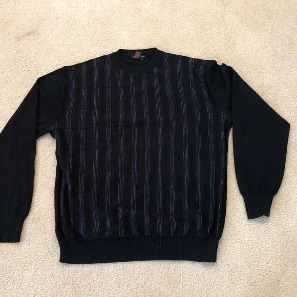 Tulliano black crew neck sweater mens XLT
